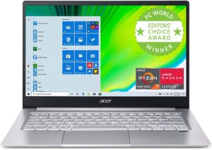 Best Budget Laptops for Writers -Acer Swift 3